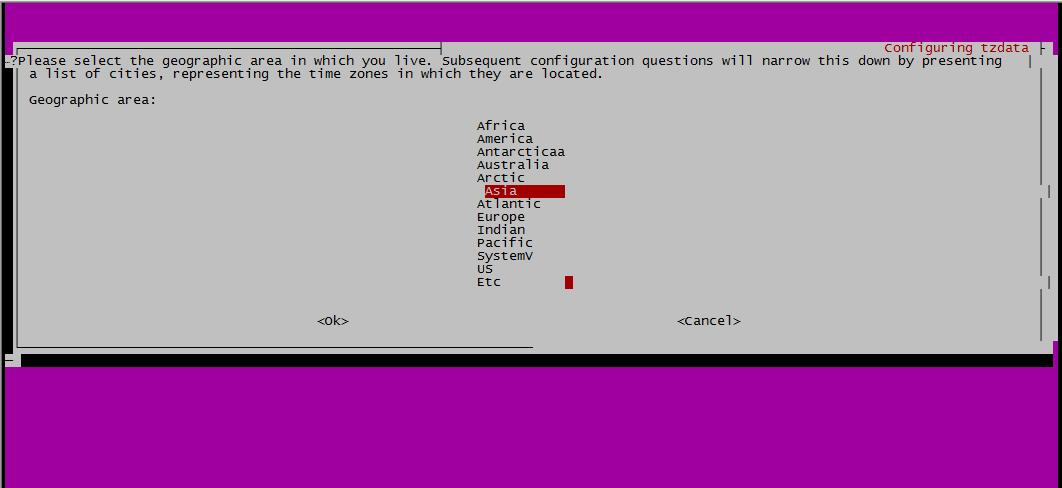 ubuntu修改时区1